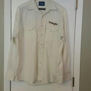 Men's Wrangler western pearl snap shirt sz 2x